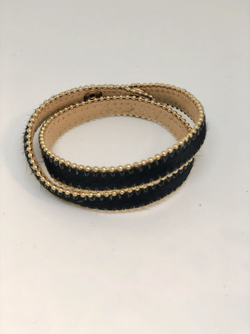 Bracelet Wrap - Black Fur