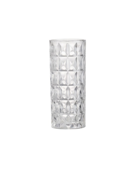 Emerald Cut Glass Vase