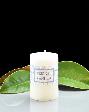 French Vanilla Cylinder Candle 50 x 75mm