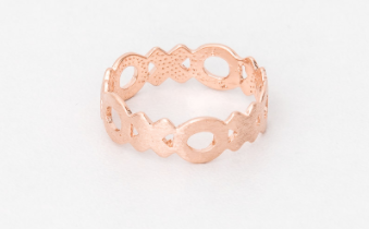 XOXO Ring In Rose Gold