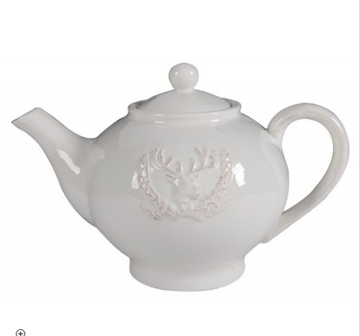 Ceramic Teapot Stag White