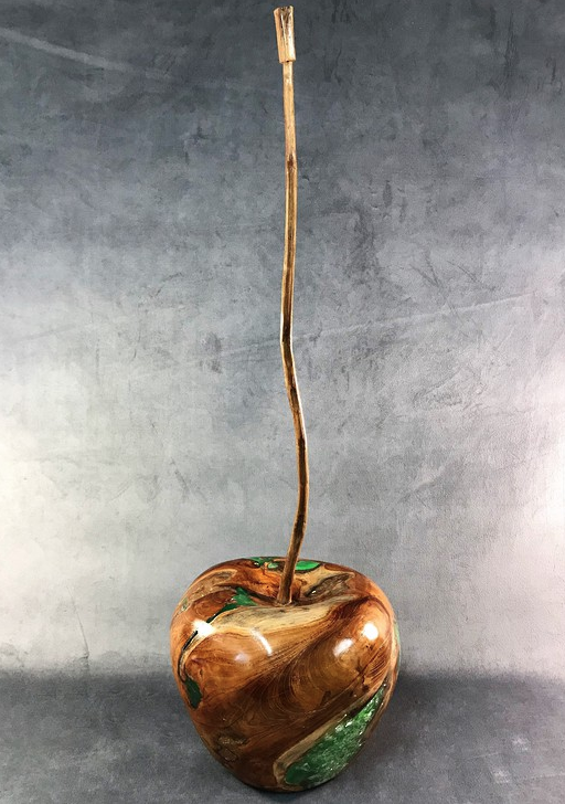 Wood and Resin Apple