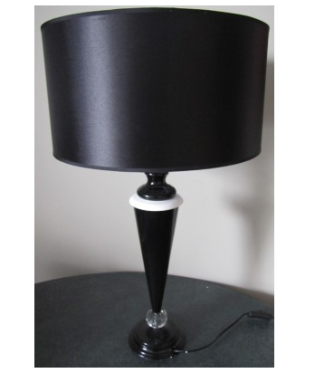 Black Diamond Point Table Lamp
