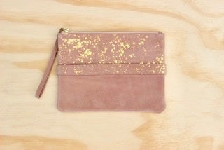 Suede Clutch Rose Cosmic