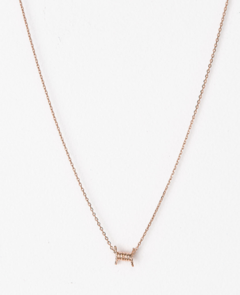 Short Barbed Wire Necklace