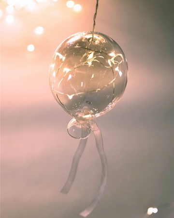 Tinted Balloon Hanging Glass Light