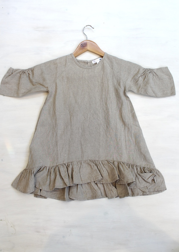 Madeline Taupe Linen Dress