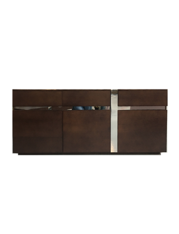 Brown/Silver Sideboard