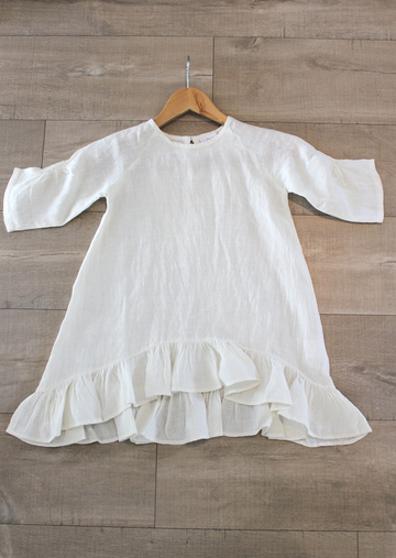 Madeline Cream Linen Dress