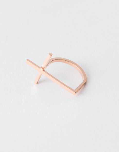 Cross Ring in Silver or Rose