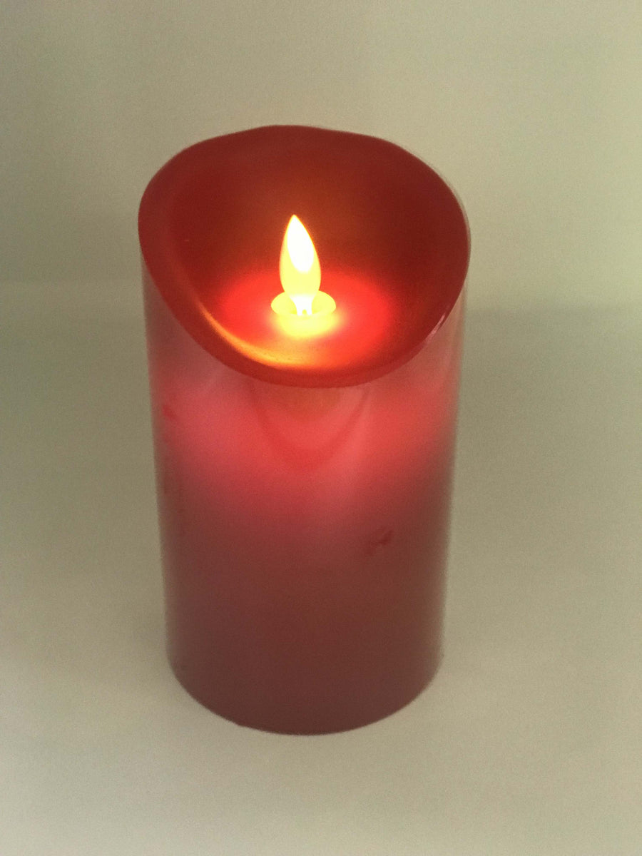 Red LED Candle - 15cm