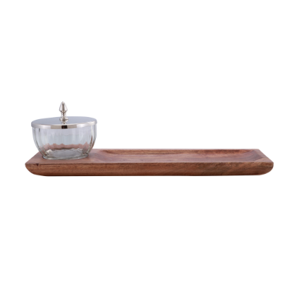 Jasper Nickel & Timber Tray