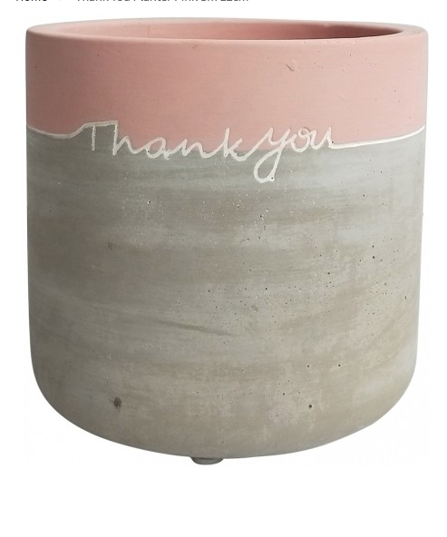 Thank You Pink Planter