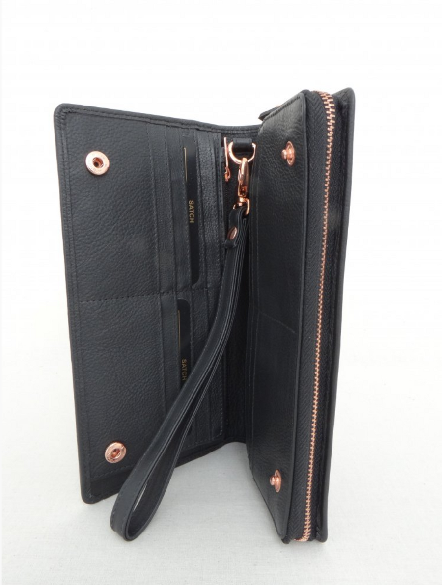 Zip Around Side Pop Wallet