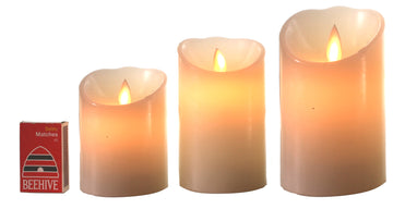 Moving Wick Candle/White - Large