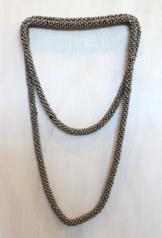 Seedbead Grey Necklace