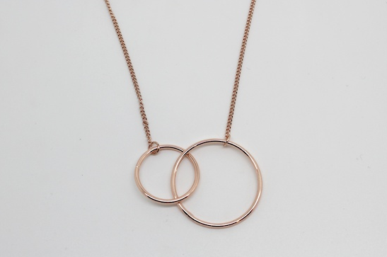 Twin Halo Necklace