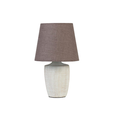 Lattice Lamp with Dark Grey Shade