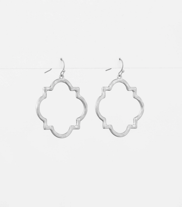 Silver Broncante Square Earrings