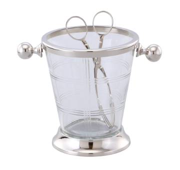 Marquess Glass Ice Bucket & Tongs