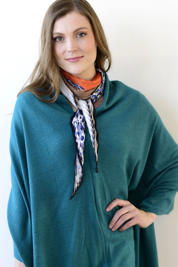 Poncho/Scarf - Teal