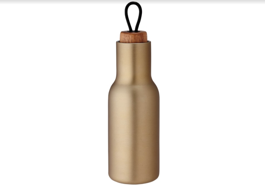 Tempa Brushed Gold Drink Bottle