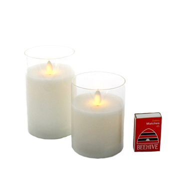 Moving Wick Candle/Clear Glass - Medium