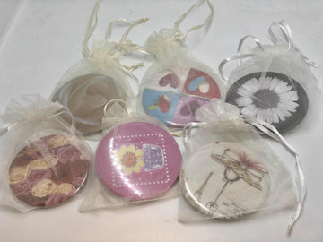 Purse Mirror in Organza Bag