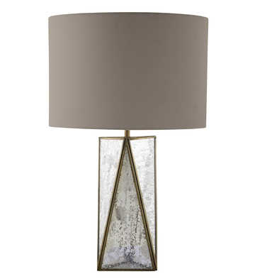 Bronze Antique Glass Edge Lamp with Shade