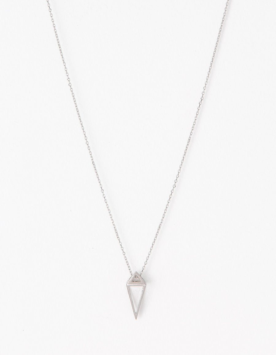 Necklace Prism. Granite, Rose Gold or Silver