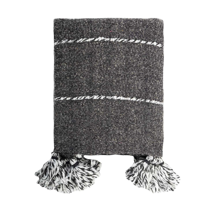 Tassel Handloom Wool Throw