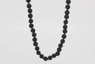 Charcoal Long Necklace