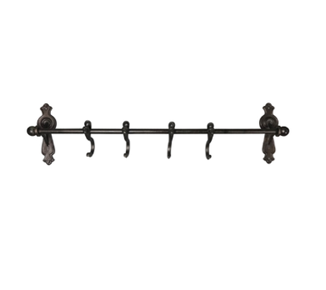Black Iron Rod with Hooks