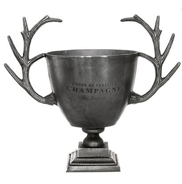 Antique Silver Deer Horn Champagne Bucket