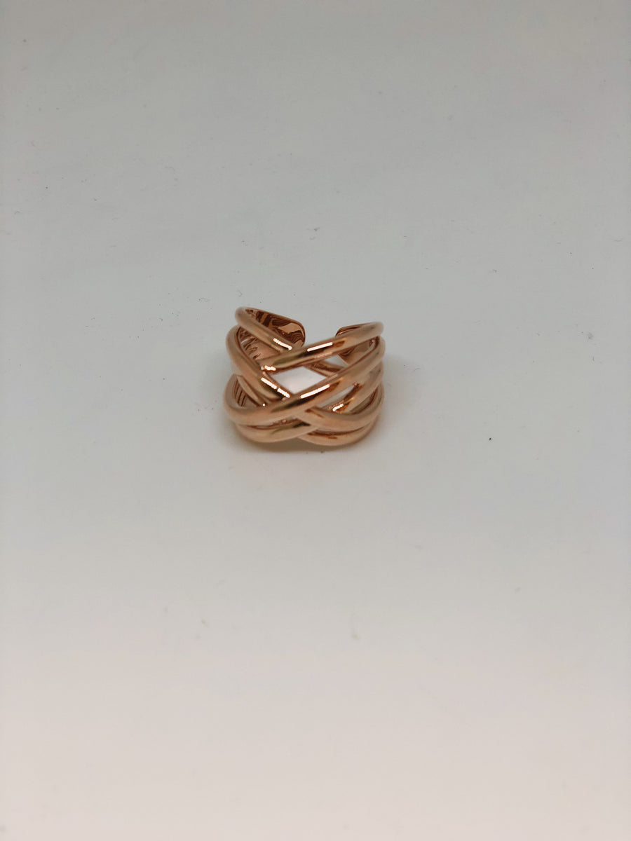 Rose Gold Tracks Ring