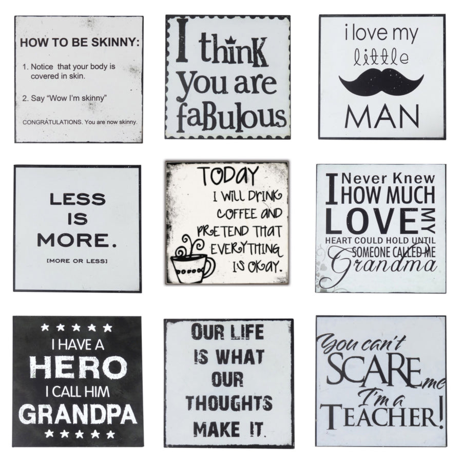 Words of Wisdom Plaques