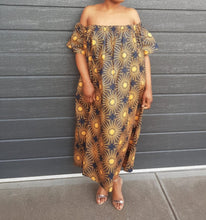 Load image into Gallery viewer, OIMA OFF-SHOULDER MAXI DRESS