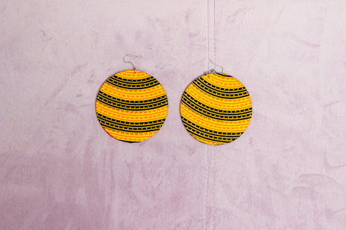 CHATA HANDMADE AFRICAN PRINT EARRINGS