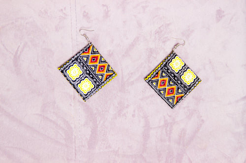 BRINER HANDMADE AFRICAN PRINT EARRINGS