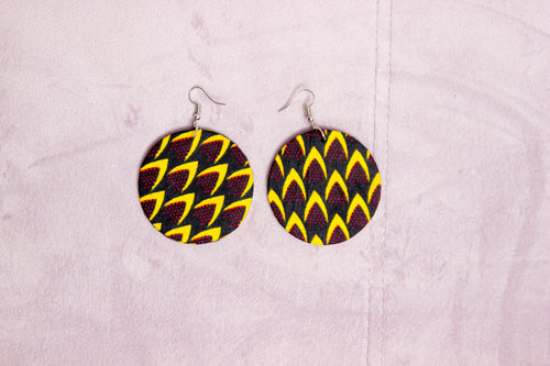 MALWE HANDMADE AFRICAN PRINT EARRINGS