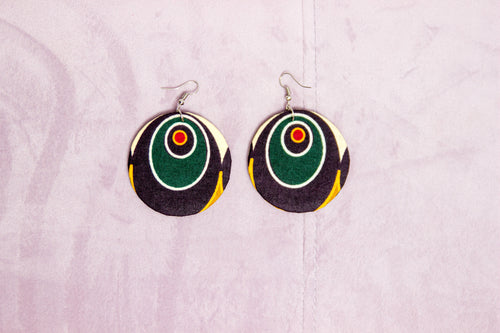 KURURU HANDMADE AFRICAN PRINT EARRINGS