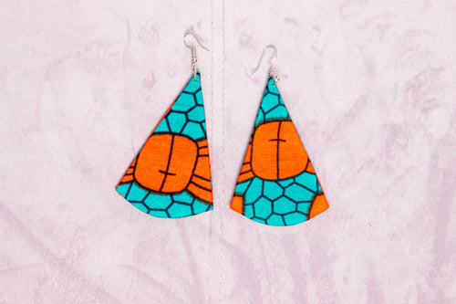 EVEH HANDMADE AFRICAN PRINT EARRINGS