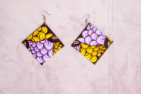 WORSH HANDMADE AFRICAN PRINT EARRINGS