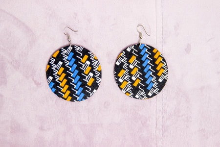 KASHIMA HANDMADE AFRICAN PRINT EARRINGS