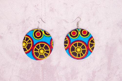 TEANA HANDMADE AFRICAN PRINT EARRINGS