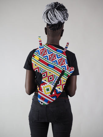 HANDMADE AFRICAN MAP SONDEYA BACK PACK