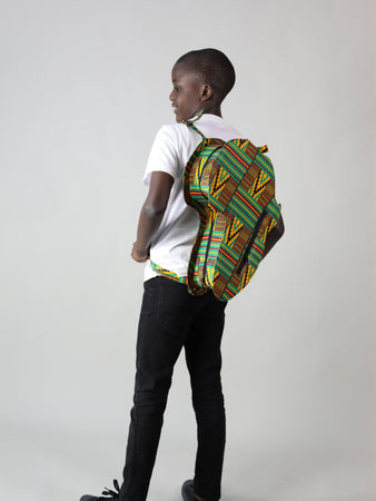 HANDMADE AFRICAN MAP MEILYN BACK PACK