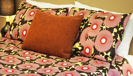 JANI HAND MADE AFRICAN PRINT DUVET COVER SET