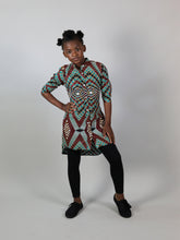 Load image into Gallery viewer, AFRICAN PRINT GIRLS' PANOG DRESS SHIRT