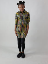 Load image into Gallery viewer, AFRICAN PRINT GIRLS' LINDOP DRESS SHIRT